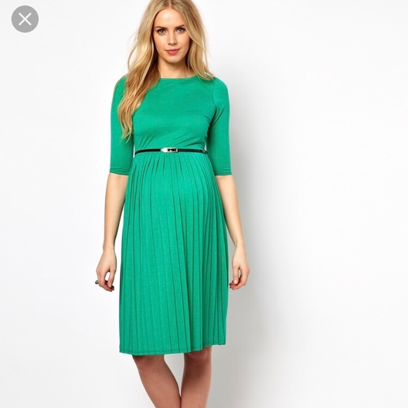 The Cheapest Price Asos Green Maternity Dress Women's Clothing